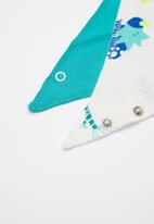 Baby Corner - Dino 2 pack bandana bib - multi