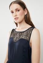 ONLY - Maika lace sleeveless dress - navy