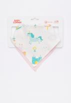 Baby Corner - Unicorn 2 pack feeding bib - multi