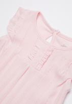 Baby Corner - Frilly short sleepsuit - pink