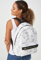 Typo - Commuter backpack - white & black