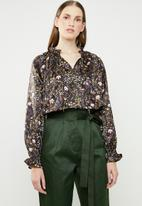 Superbalist - Satin peasant blouse - floral