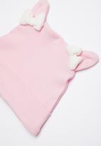 Baby Corner - Unicorn patterned sleepsuit & hat set - pink & white