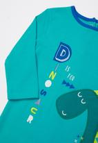 Baby Corner - Dino 2 pack printed sleepsuit & hat set - green