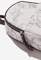 Typo - Mini cairo backpack - white & grey