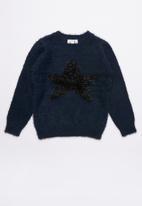name it - Kids frazia long sleeve knit - navy & black