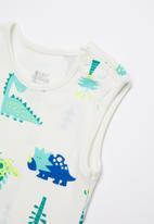 Baby Corner - Dino short sleeve sleepsuit - multi