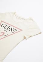 GUESS - Short sleeve classic tri tee - yellow