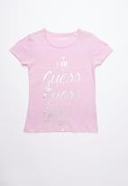 GUESS - Guess tee - purple