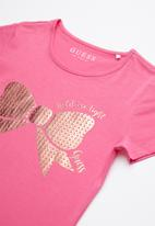 GUESS - Bow print tee - pink