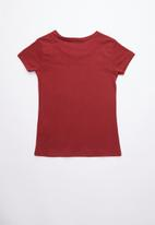 GUESS - Short sleeve double hearts tee - red