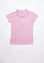GUESS - Classic Guess polo tee - purple