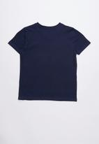 GUESS - Short sleeve guess V-neck tee - blue