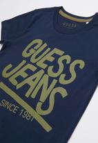 GUESS - Short sleeve Guess tee - blue