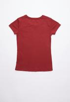 GUESS - Short sleeve leopard Guess tee - red