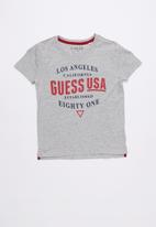GUESS - Short sleeve Guess established tee - grey