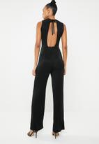 ONLY - Cosmo lurex sleeveless jumpsuit - black