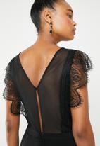 ONLY - Seville lace blocking jumpsuit - black