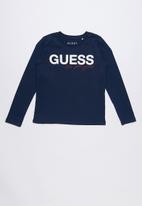 GUESS - Long sleeve los angeles tee - navy