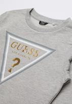 GUESS - Long sleeve active tri top  - grey