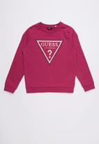 GUESS - Long sleeve active tri top - purple