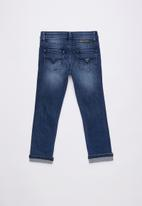 GUESS - Roll-up mid indigo wash skinny - blue