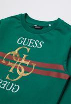GUESS - Long sleeve fashion quatro active top - green