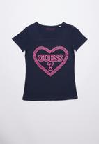 GUESS - Guess heart tee - navy