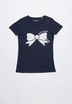 GUESS - Bow print tee - navy