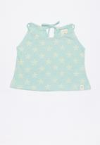 Lizzy - Sameh printed strappie top - green
