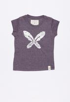 Lizzy - Amara printed tee - purple