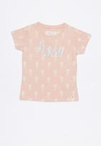 Lizzy - Elixia printed tee - pink