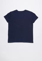 GUESS - Short sleeve core triangle tee - navy