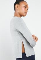 Superbalist - Side slit top - light grey melange