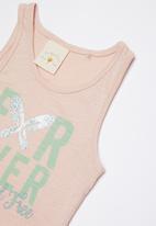 Lizzy - Lyla printed vest - pink