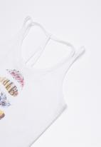 Lizzy - Celia printed vest - white