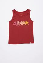 Quiksilver - Rough script tank tee - red