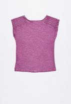 Lizzy - Myrtle printed tee - purple