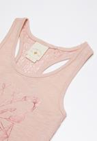 Lizzy - Adelaide printed vest - pink