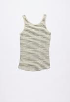 Lizzy - Galena printed vest - grey & cream