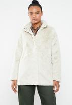 ONLY - Vida faux fur coat - neutral