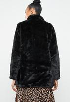 ONLY - Vida faux fur coat - black