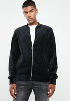 Jack & Jones - Serge velvet bomber - black