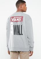 Vans - Retro tall type crew sweat - grey