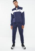 PUMA - Clean tricot tracksuit - navy & white