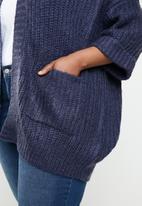 Brave Soul - Plus size 3/4 sleeve cardigan - navy