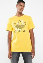adidas Originals - Trefoil art short sleeve tee - yellow