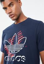 adidas Originals - Trefoil art tee - navy