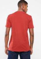 adidas Originals - Trefoil short sleeve crew tee - red & white
