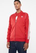 adidas Originals - SST track top - red & white